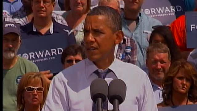 Barack Obama visits Akron