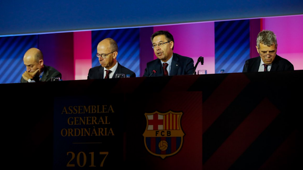 Barcelona approve €897million budget following record revenue in 2016-17
