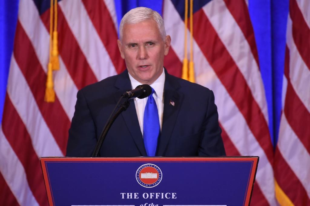 Incoming Vice President Mike Pence dismissed notions that the Trump team and the Kremlin had made contact during the 2016 race (AFP Photo/DON EMMERT)