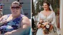 Bride unrecognisable after 90kg transformation