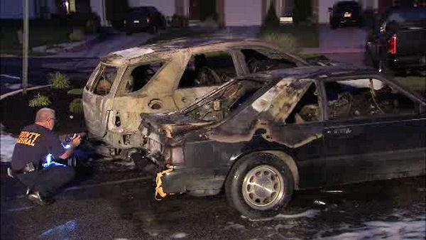 Mercedes, Mustang burned in Winslow Township