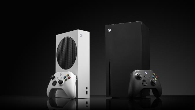 A pair of Microsoft home video game consoles, including an Xbox Series S (L) and Xbox Series X, taken on October 27, 2020. (Photo by Phil Barker/Future Publishing via Getty Images)