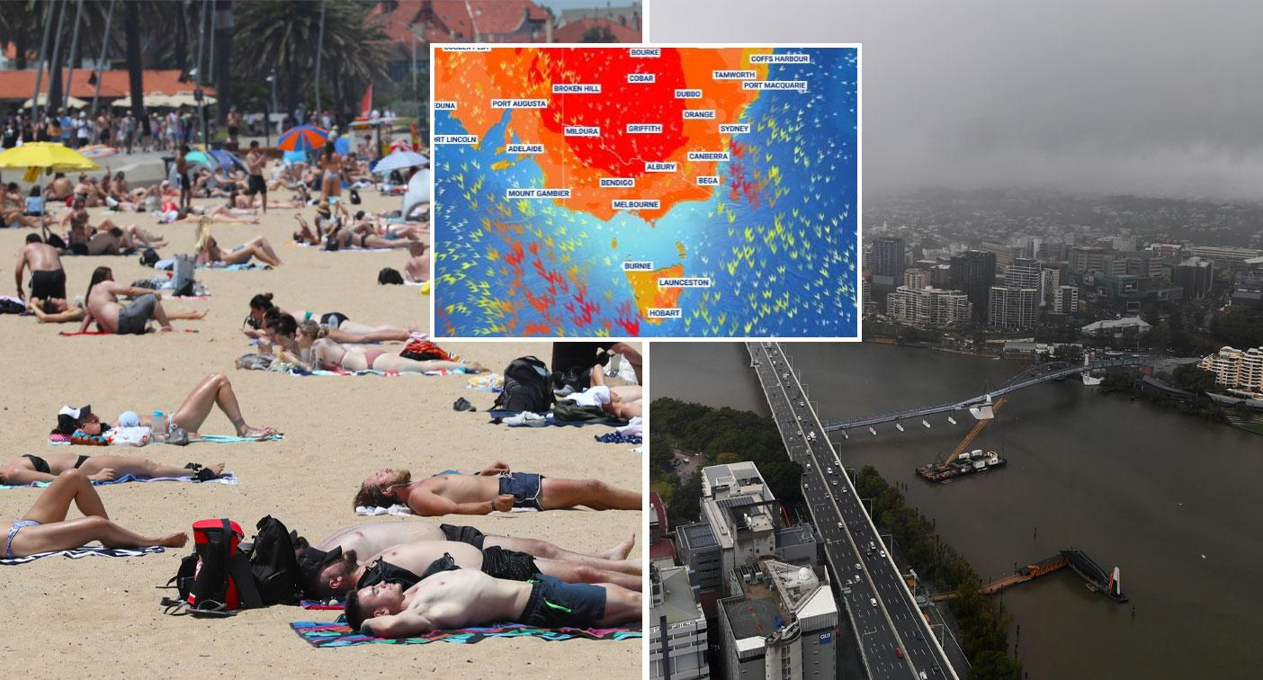 East coast braces for floods and blistering heat in week of extreme weather