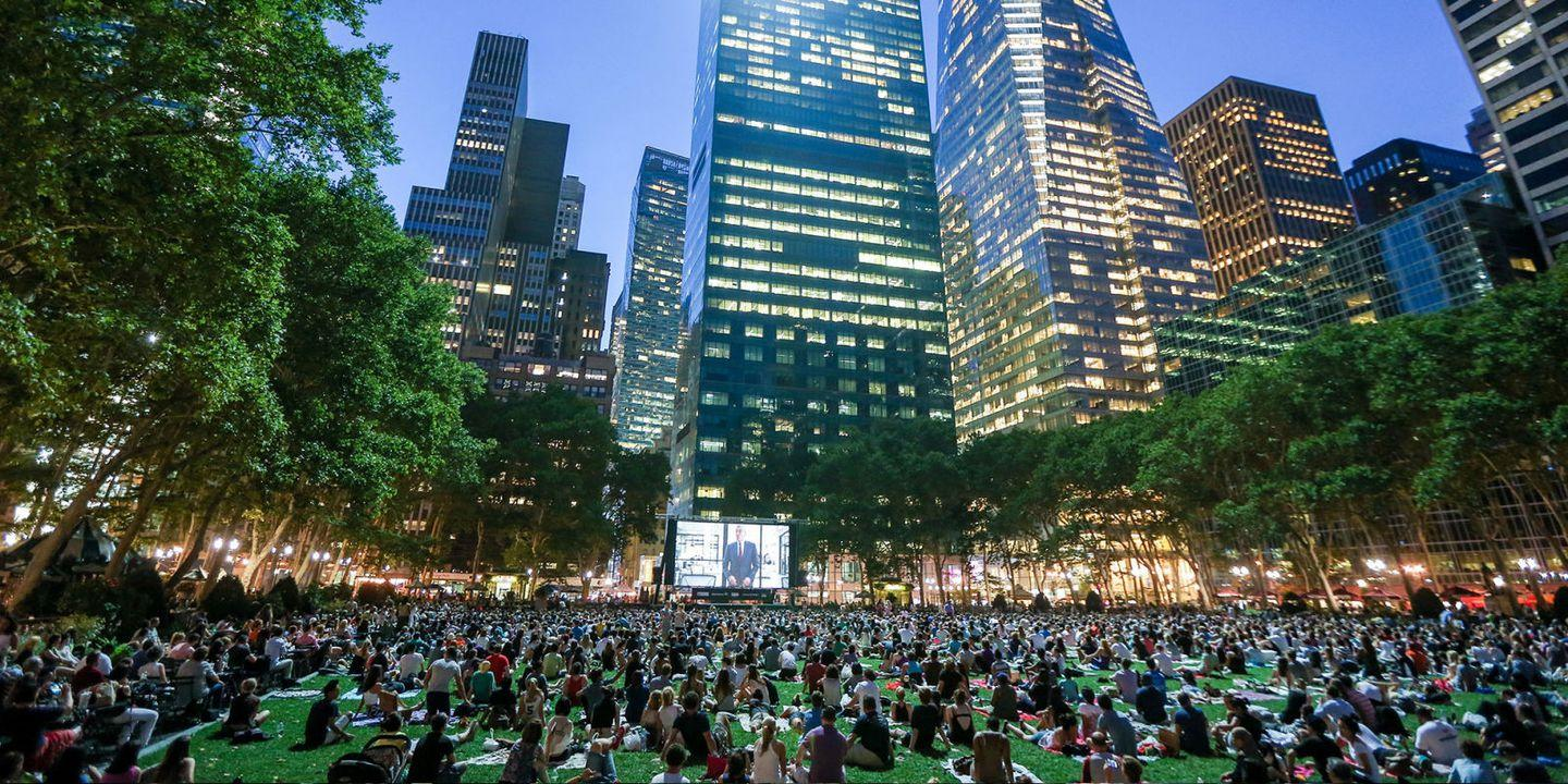 New Yorkers Know Summer Means Its Time For Free Outdoor Movies In Nyc Popcorn On Pinterest Short Circuit 2 The Princess Bride And