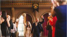 Por amor a la magia: decidieron que Harry Potter fuera el tema de su boda, y les salió genial
