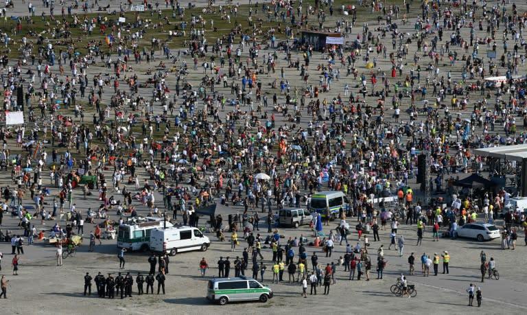 Thousands protest against anti-coronavirus measure in Munich