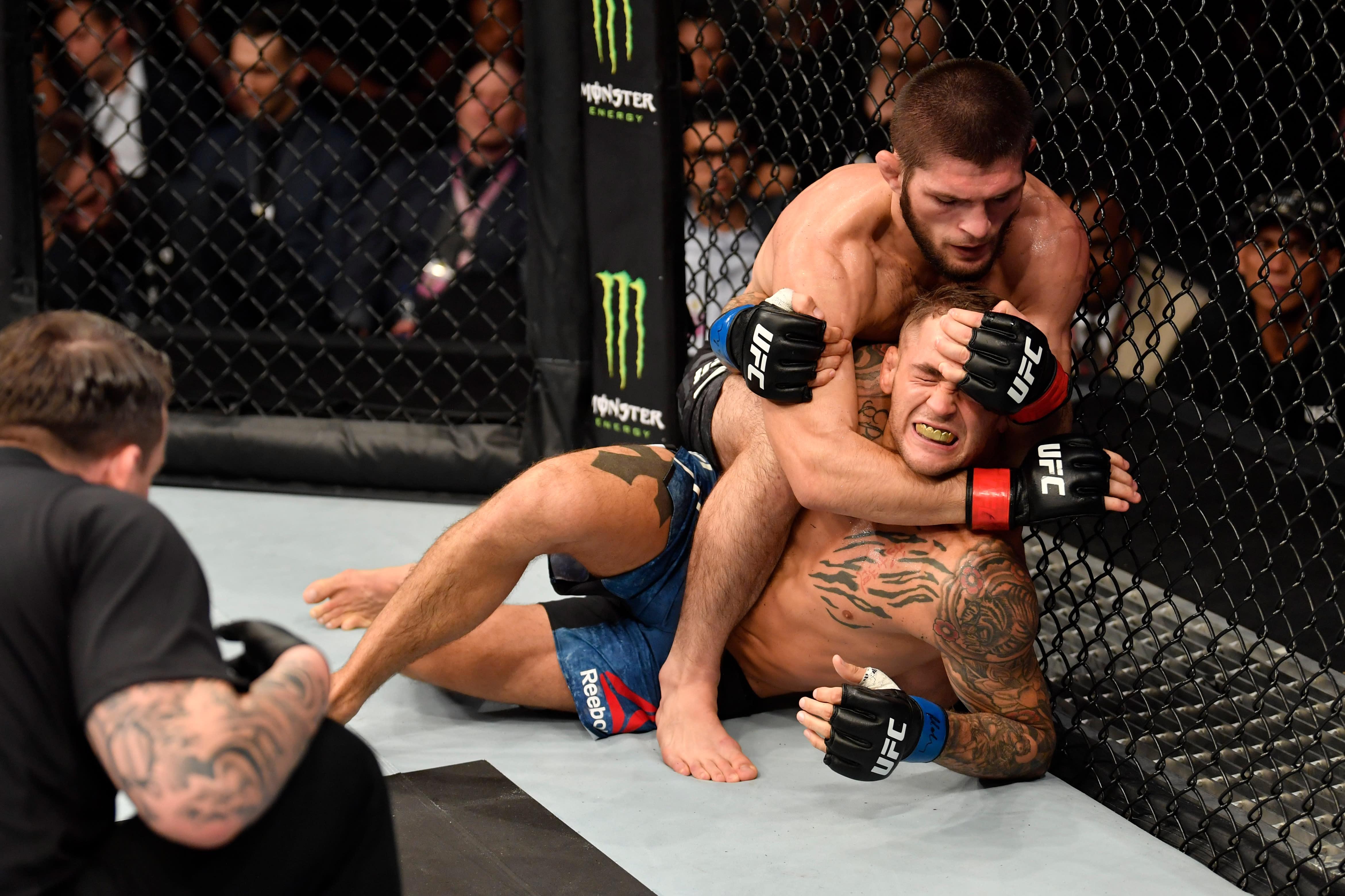 UFC 242: Khabib Nurmagomedov stops Dustin Poirier
