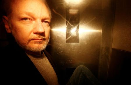 FILE PHOTO: WikiLeaks founder Julian Assange leaves Southwark Crown Court after being sentenced in London