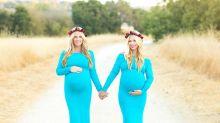 Gêmeas que deram à luz no mesmo dia mostram as filhas um ano após o nascimento