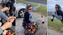 TikTok teens dress up as grandmas and use medical masks to buy booze