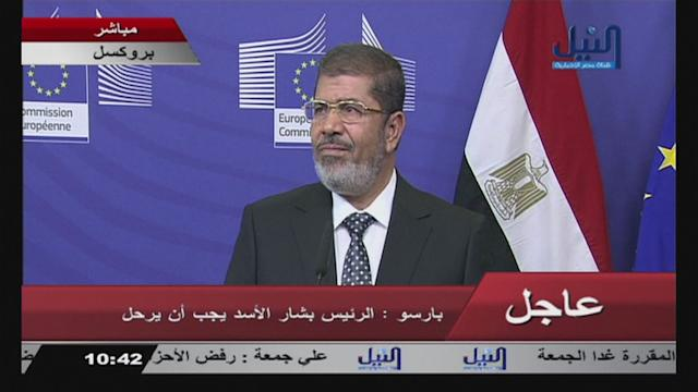 Egypt's Morsi rejects attacks on Islam but against violence