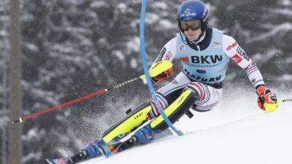Ski alpin - CM (H) - Clément Noël mène après la première manche du slalom de Flachau