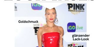 Look des Tages: Hailey Baldwin im superkurzen Lack-Look