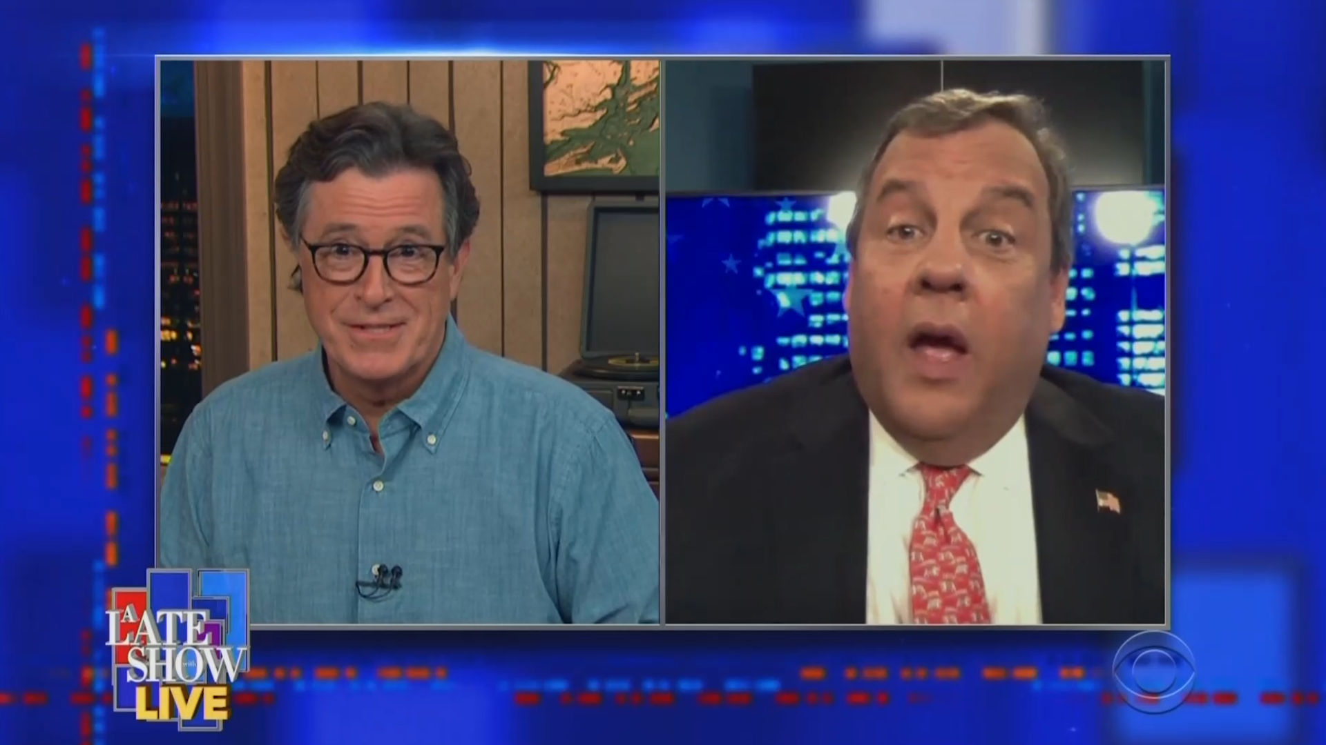 Stephen Colbert warns Chris Christie he may not be allowed back on 'Late Show' if Trump is reelected
