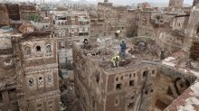 Antiguas casas de Saná, Patrimonio de la Humanidad de la UNESCO, se derrumban por fuertes lluvias