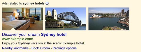 AdWords: Google testet Websuche mit Werbefotos