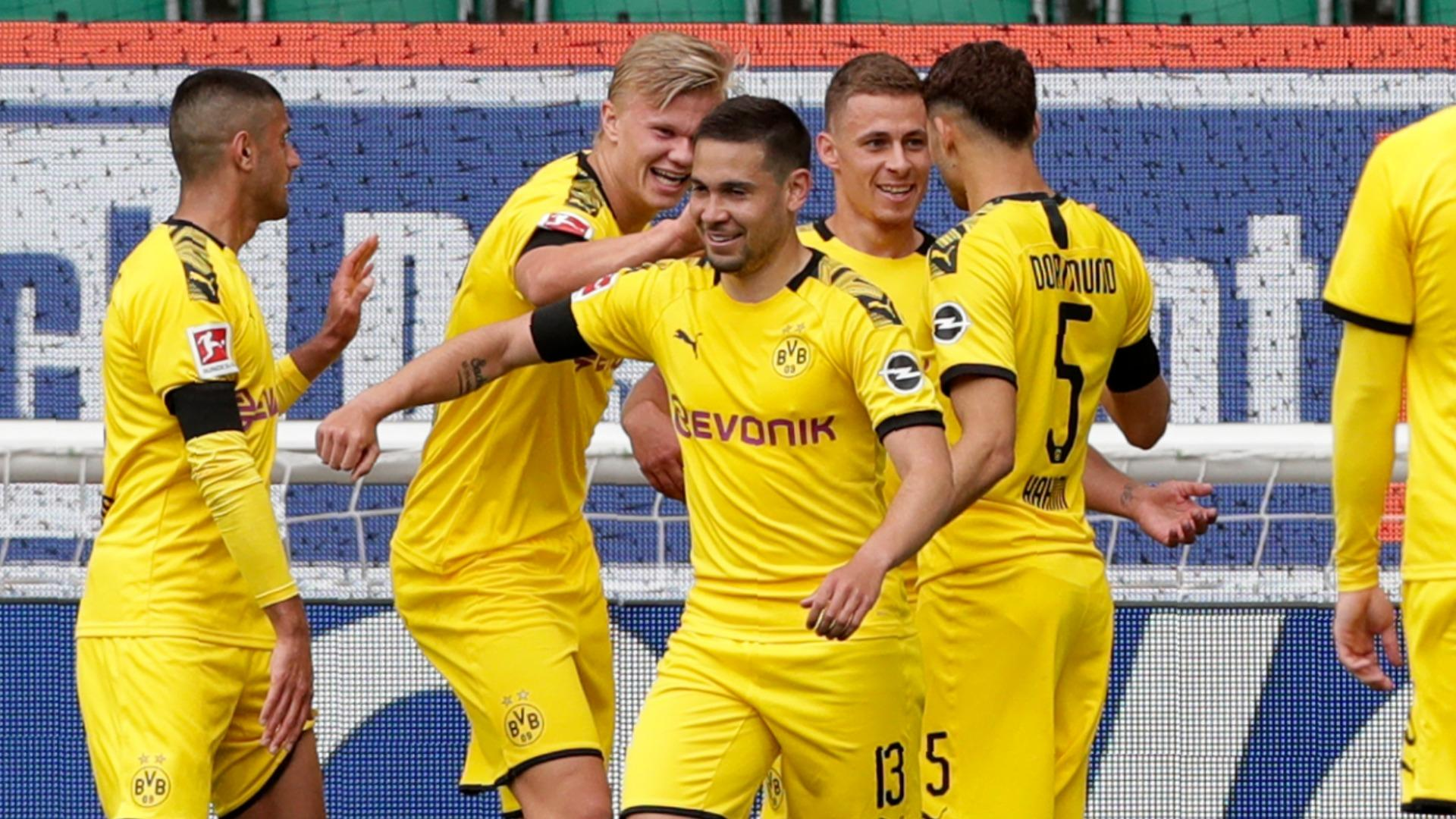 Wolfsburg 0-2 Borussia Dortmund: Guerreiro, Hakimi secure scrappy ...