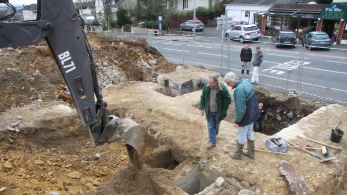 Un bunker allemand mis au jour dans le centre-ville de Caen
