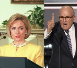 Giuliani digs up Lewinsky scandal to bash Hillary Clinton
