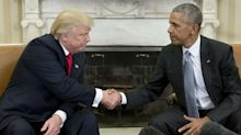 Barack Obama says Obamacare is more popular than Trump in first attack on president