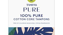 P&G rolls out organic tampons, pads