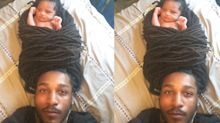 Baby wrapped in dad's dreadlocks is the cutest photo on Instagram