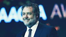 Russell Crowe tells off-colour awards show gag about 'sodomising' actress co-star