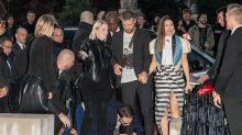 Justin Timberlake tackled on red carpet by notorious prankster at Paris Fashion Week