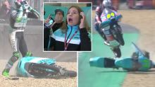 'What have we just seen?': Moto3 rider's miracle escape