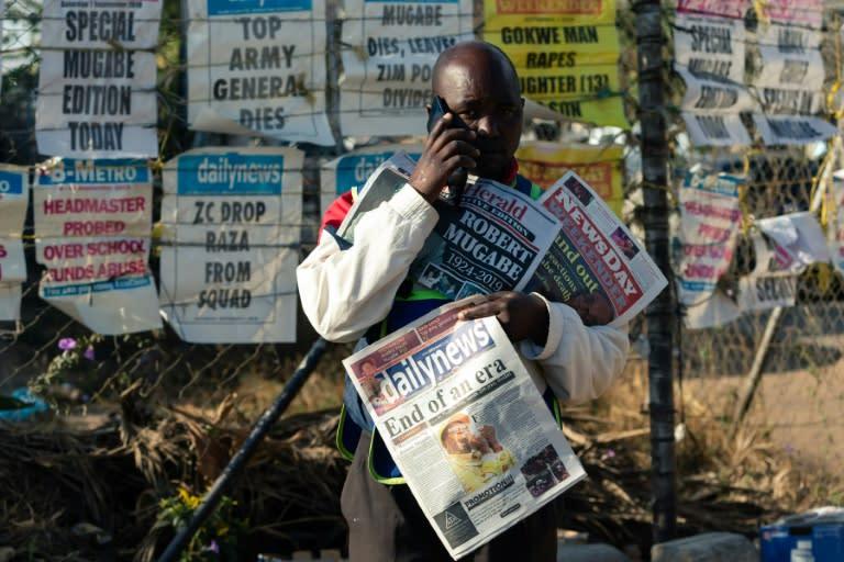 Zimbabweans choose work over mourning Mugabe