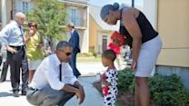 Obama Visits New Orleans' Treme Neighborhood