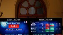 La Bolsa española cae el 0,71 % a mediodía y pone en riesgo los 9.500 puntos