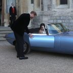 Prince Harry drove Meghan Markle to their Royal Wedding reception in this electric Jaguar