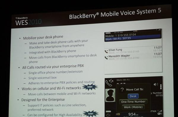RIM's BlackBerry Mobile Voice System 5 lets you stay tied to your desk without being tied to your desk