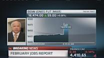 February non-farm payrolls up 175,000; Unemployment at 6....