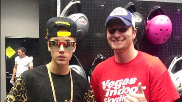 Justin Bieber gets banned from Vegas skydiving facility