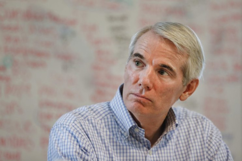 Sen. Rob Portman, R-Ohio, listens during a roundtable discussion with former addiction recovery clients and current employees at the Adams Recovery Center for Women on July 5, 2017, in Cincinnati. (Photo: John Minchillo/AP)
