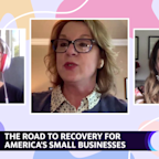 Tami Erwin Verizon Business CEO, Christina Stembel Farmgirl Flowers CEO, and Nancy Lublin Crisis Text Line CEO join Yahoo's Reset Your Mindset at Work special