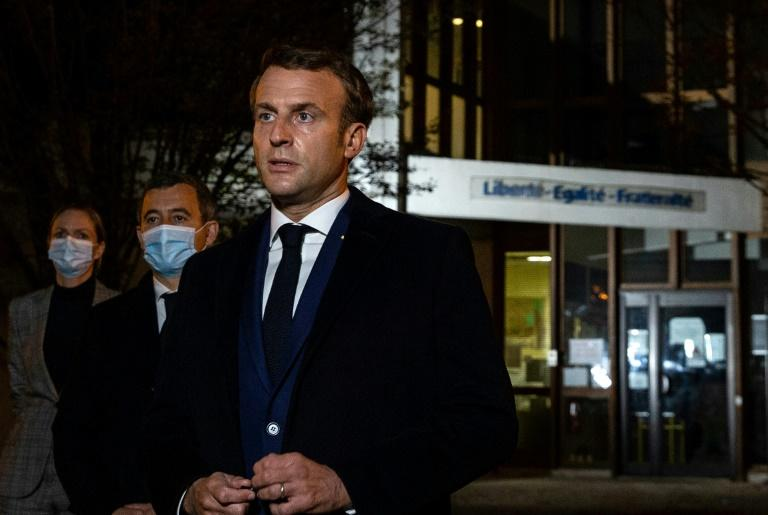 French President Emmanuel Macron said the decapitation bore the hallmarks of 'an Islamist terrorist attack'
