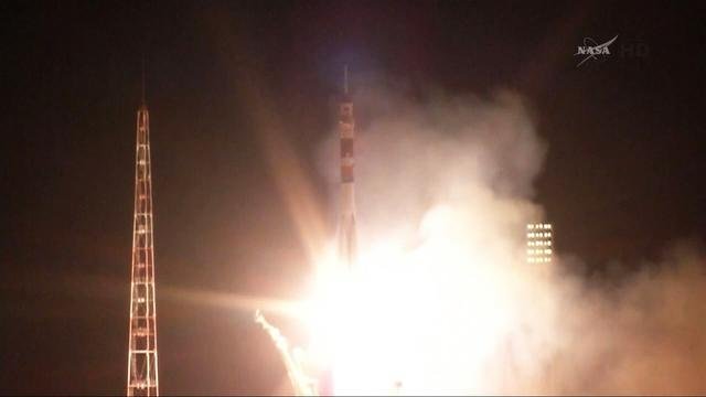 Soyuz rocket launches new crew to ISS
