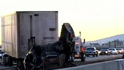 Early Morning Big Rig Accident