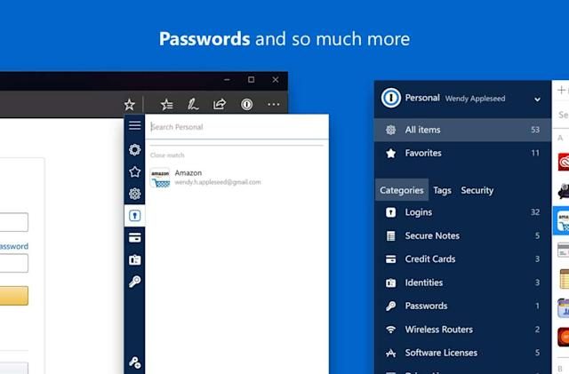 1Password extension is finally available for Microsoft Edge