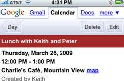 New Mobile Google Calendar on the iPhone too