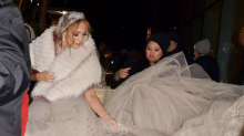 Jennifer Lopez Was Spotted Wearing the Most Extravagant Wedding Dress