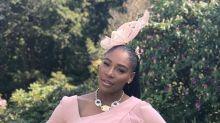 Serena Williams stuns in pale pink Versace at royal wedding