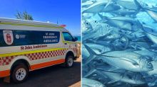Woman lucky to be alive after fish jumping out of water slashes her neck