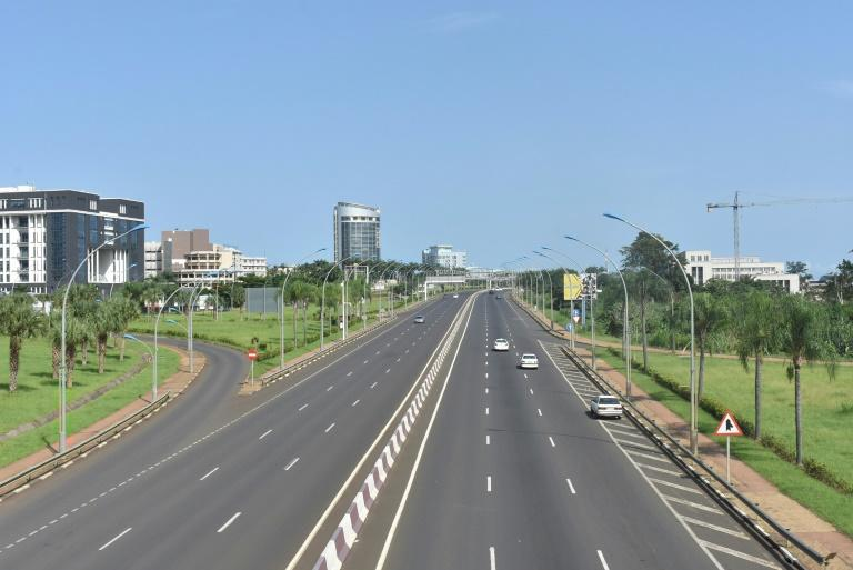 Empty: A freeway in Malabo last Friday (AFP Photo/Samuel OBIANG)