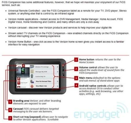 Verizon survey reveals FiOS Companion Android tablet, aka the Motorola Corvair