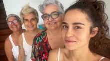 """Nanda Costa posa com namorada e avós: """"Que Oxalá abençoe"""""""