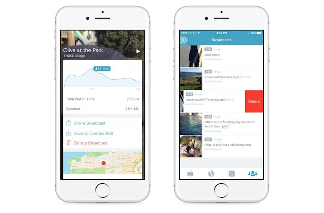 Periscope broadcasts are now permanently saved by default